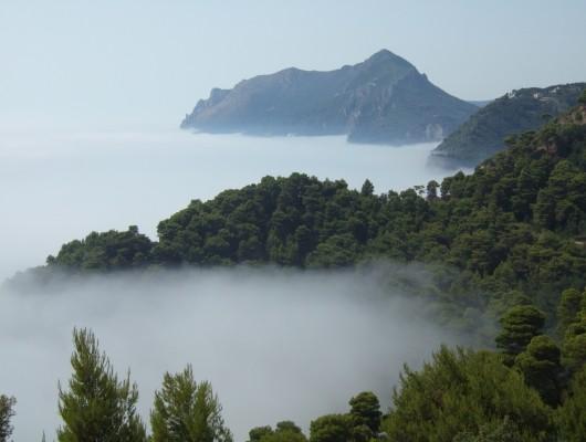 Meer aus Nebel
